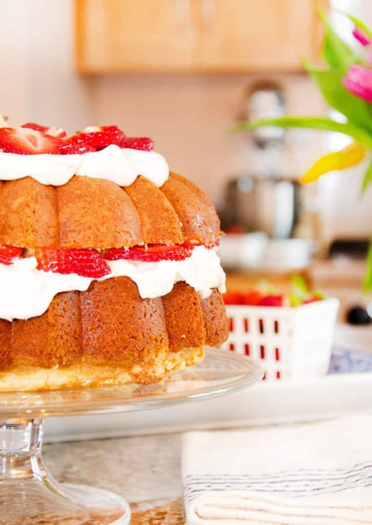 Strawberry Pound Shortcake | Grandbaby Cakes Best Pound Cake Recipes Page