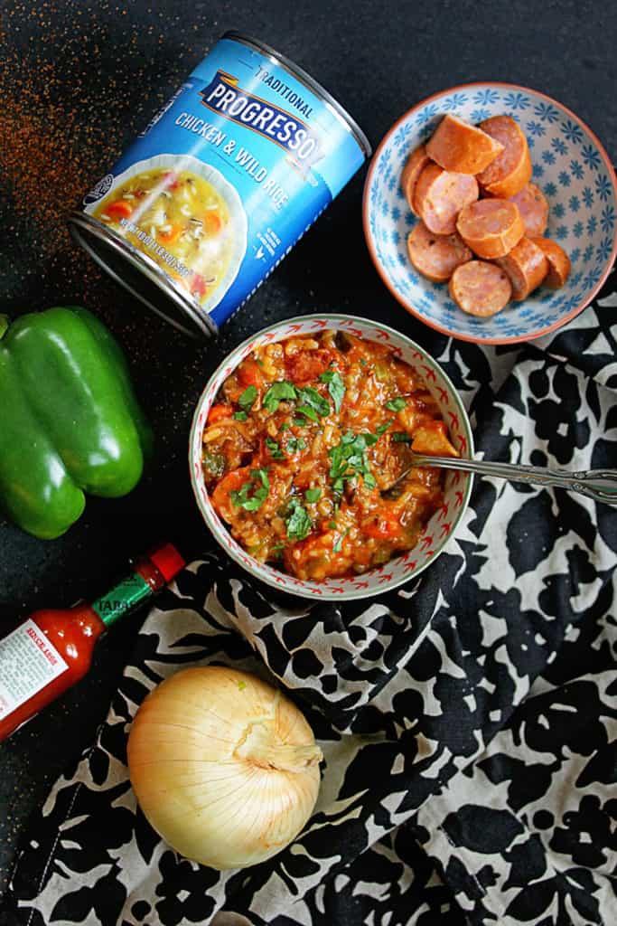 Easy Jambalaya Soup made with Progresso | Grandbaby Cakes #ad