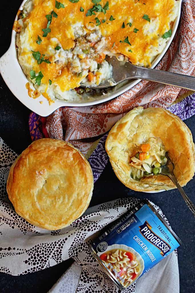 Progresso Pot Pie and Shepherd's Pie | Grandbaby Cakes #ad