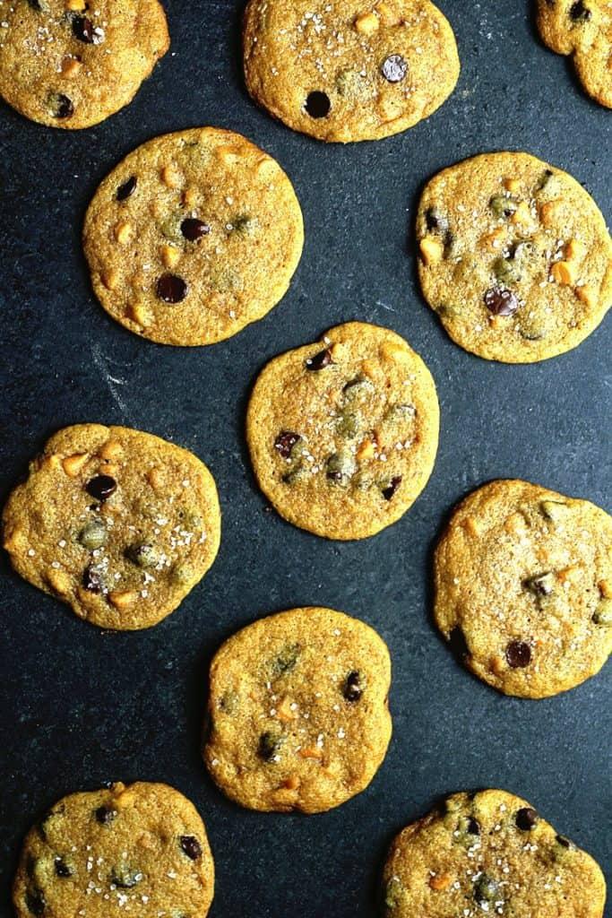 Pumpkin Chocolate Chip Cookies - Pumpkin Desserts - Fall Desserts