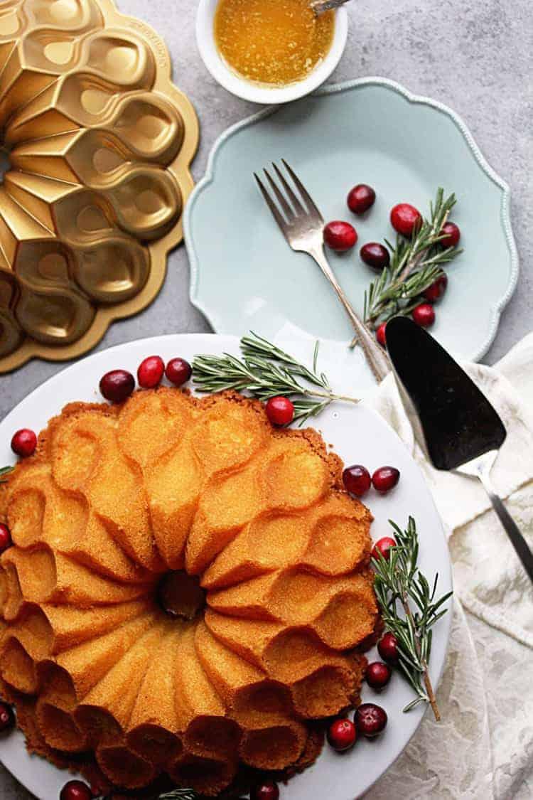 Eggnog Buttered Rum Cake Recipe (Eggnog Pound Cake) | Grandbaby Cakes