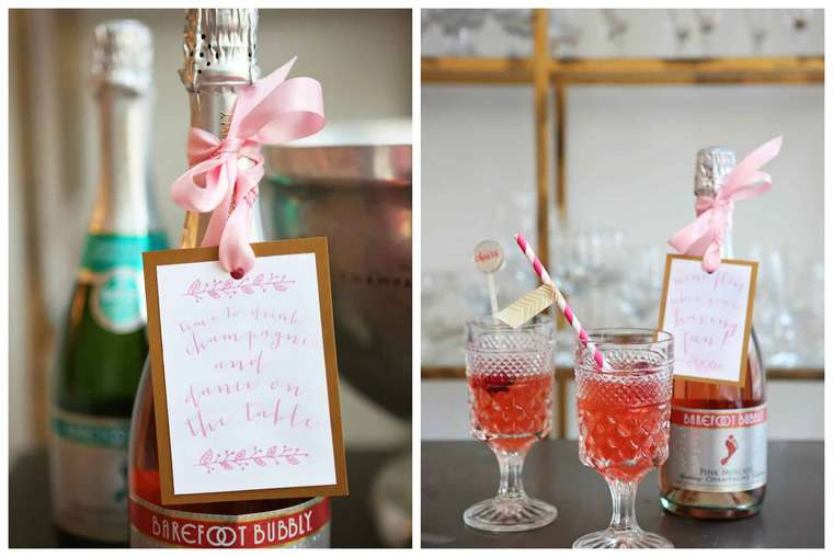 Holiday Party DIY Tips and Bubbly Cocktails | Grandbaby Cakes