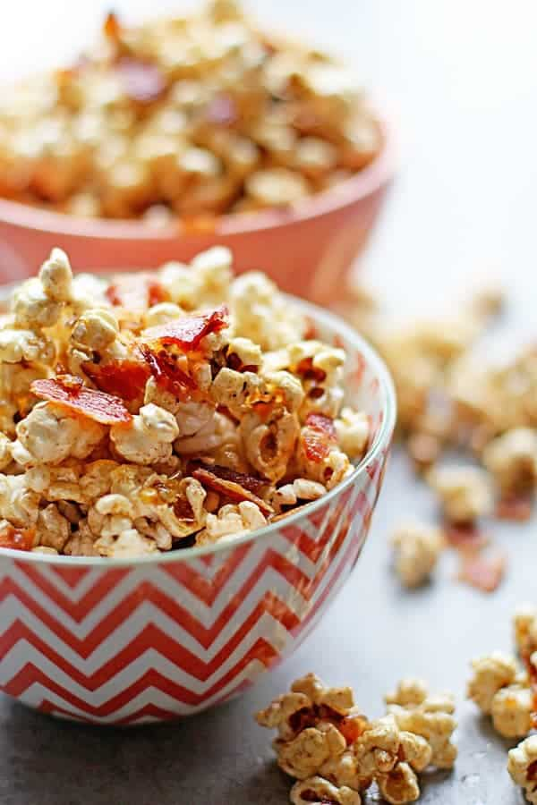 Brown Butter Maple Bacon Popcorn Recipe | Grandbaby Cakes