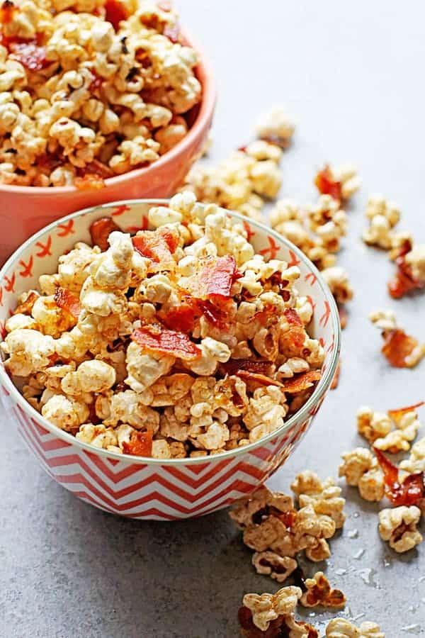 Brown Butter Maple Bacon Popcorn Recipe | Grandbaby Cakes
