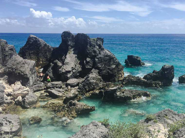 Carnival Pride Cruise to Bermuda Part 2 water and rocks shot - My Carnival Pride Cruise to Bermuda Part 2