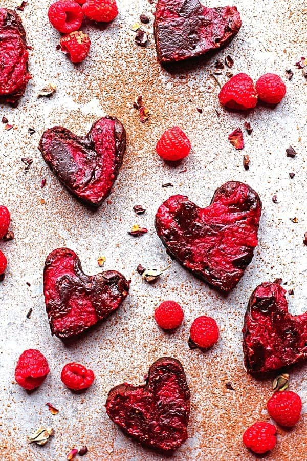 Heart Shaped Raspberry Brownies Recipe | Grandbaby Cakes