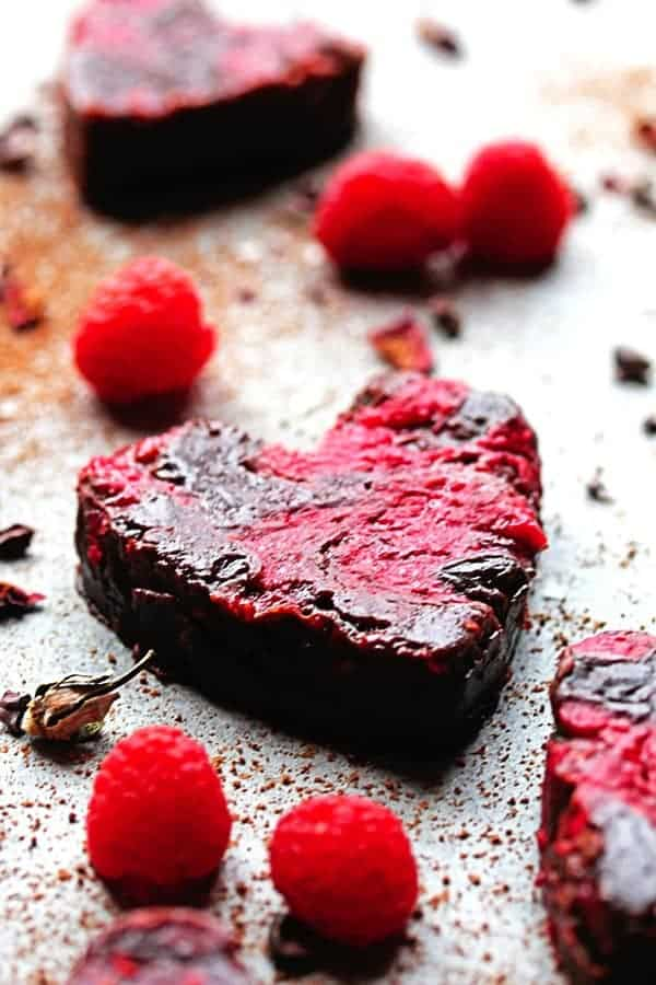Heart Shaped Raspberry Brownies updated3 - Raspberry Brownies Recipe