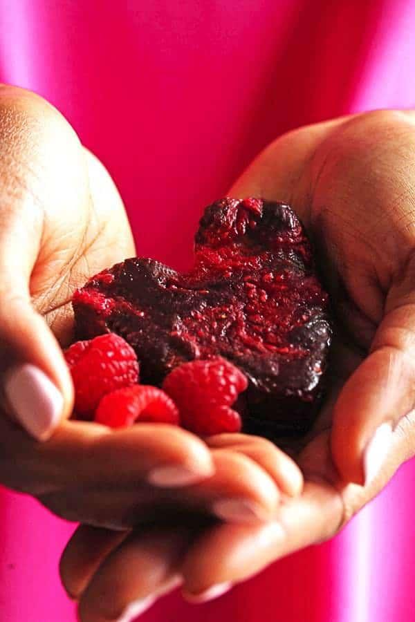 Heart Shaped Raspberry Brownies updated5 - Raspberry Brownies Recipe