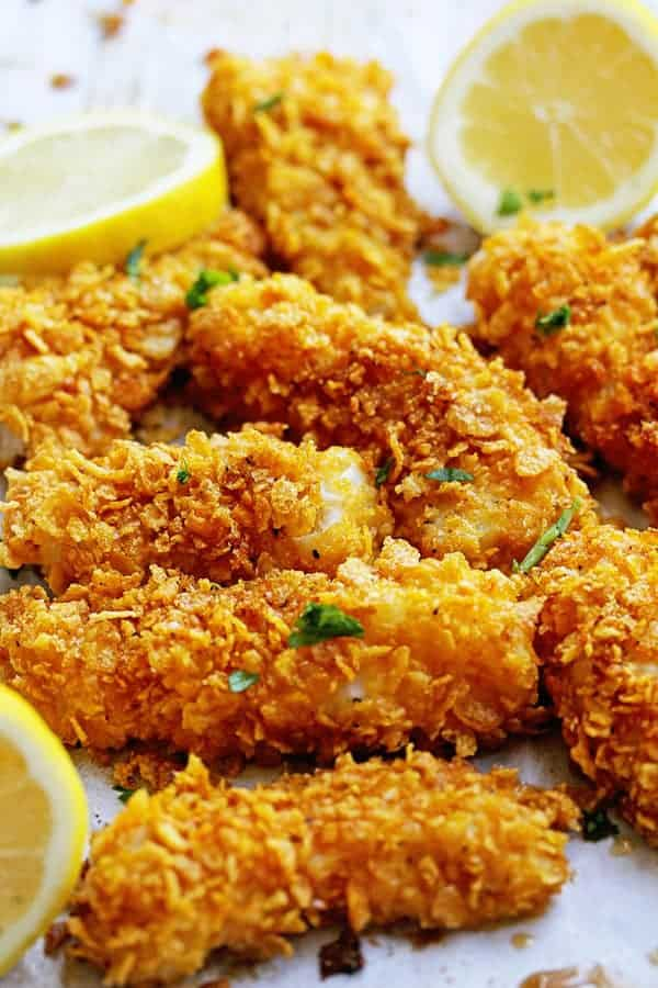 Crispy baked fish sticks recipe grandbaby cakes for Baked fish cakes