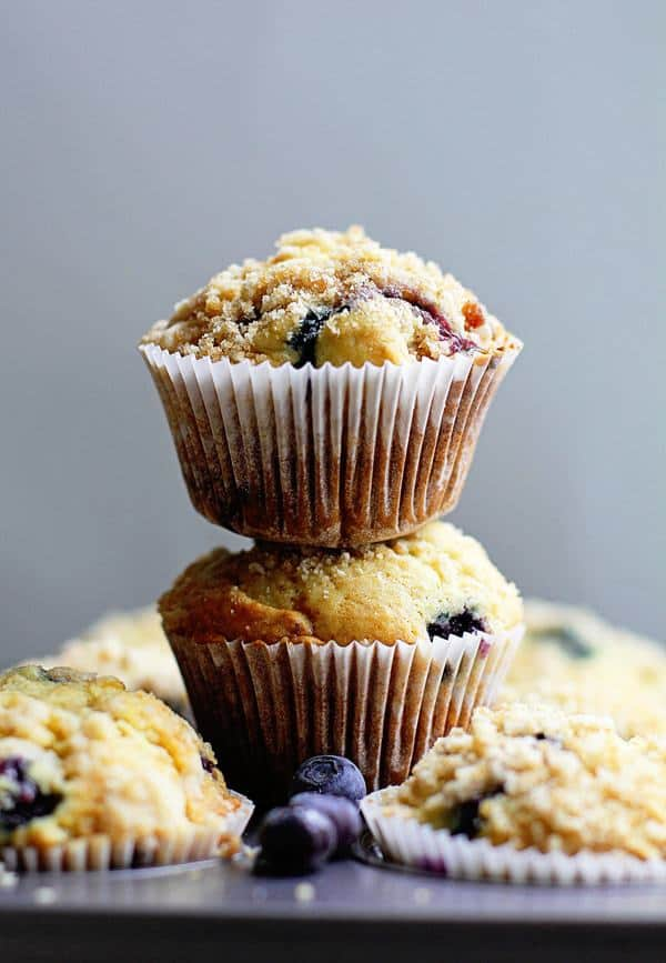 Perfect Blueberry Streusel Muffins Recipe - Grandbaby Cakes