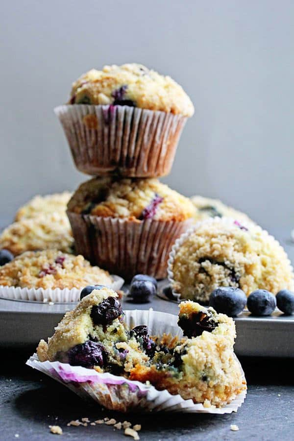 Perfect Blueberry Streusel Muffins | Grandbaby Cakes
