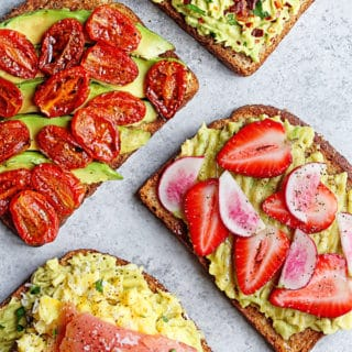 Avocado Toast 4 Ways!