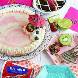 Bacardi Miami Vice No Bake Cheesecake Recipe | Grandbaby Cakes