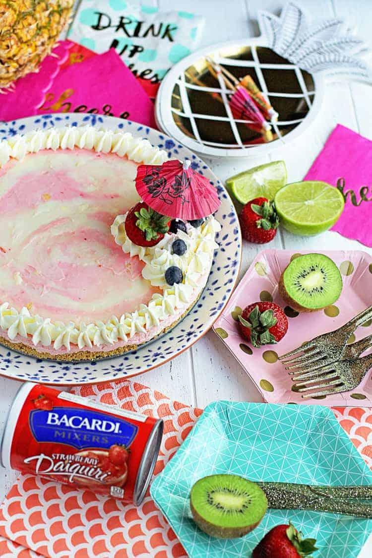 Miami Vice No Bake Cheesecake Recipe