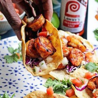 Jerk Shrimp Tacos | Grandbaby Cakes