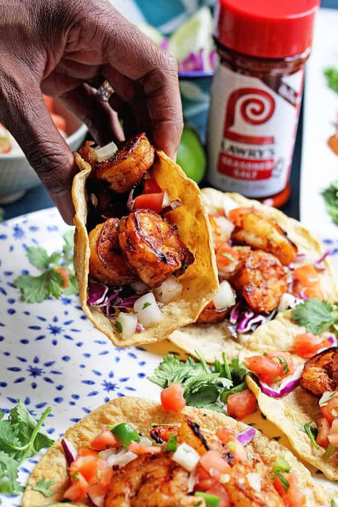 Jerk Shrimp Tacos   Grandbaby Cakes
