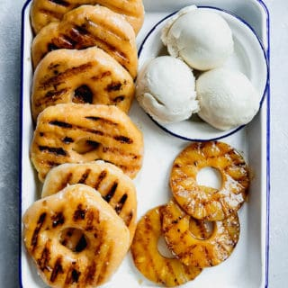 Jocelyn Grilled Pineapple Donuts 320x320 - Grilled Pineapple Donut Sundaes Recipe