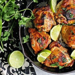 Crispy Skillet Baked Garlic Chicken Recipe