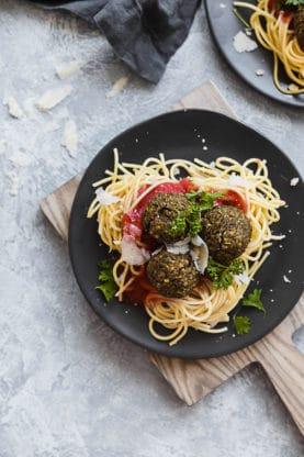 Spaghetti and Lentil Meatballs | Grandbaby Cakes