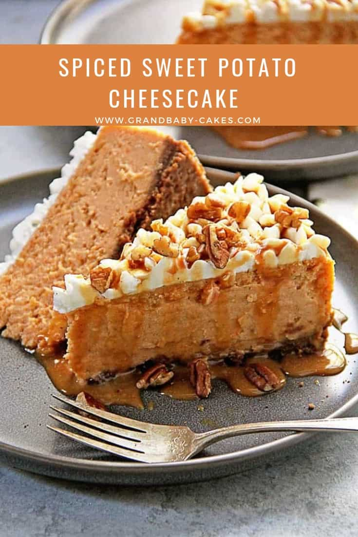 Decadent, creamy and perfectly luscious, this sweet potato cheesecake recipe is the best of sweet potato pie but even richer and more delicious! #cheesecake #sweetpotato