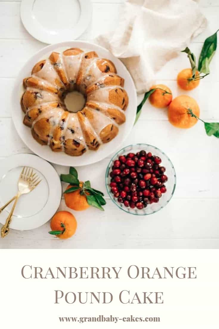 Cranberry Orange Pound Cake - a deliciously moist, flavorful and perfect winter pound cake which is a dream to make all season long. It's one the best holiday cakes you'll ever bake! #cranberry #orange #cake #poundcake #bundt