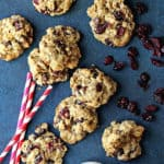 Dark Chocolate and Cranberry Oatmeal Cookies | Grandbaby Cakes