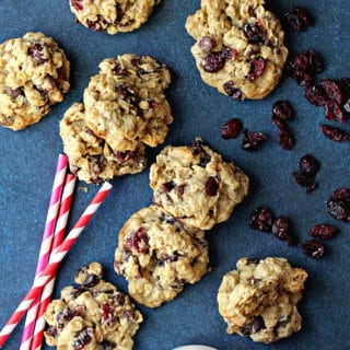 Dark Chocolate and Cranberry Oatmeal Cookies