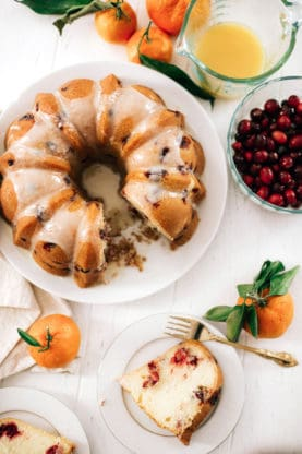 Cranberry Orange Pound Cake with Pyrex | Grandbaby Cakes