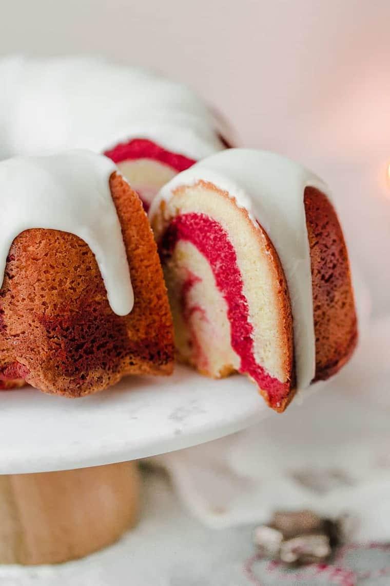 Vanilla Red Velvet Marble Cake