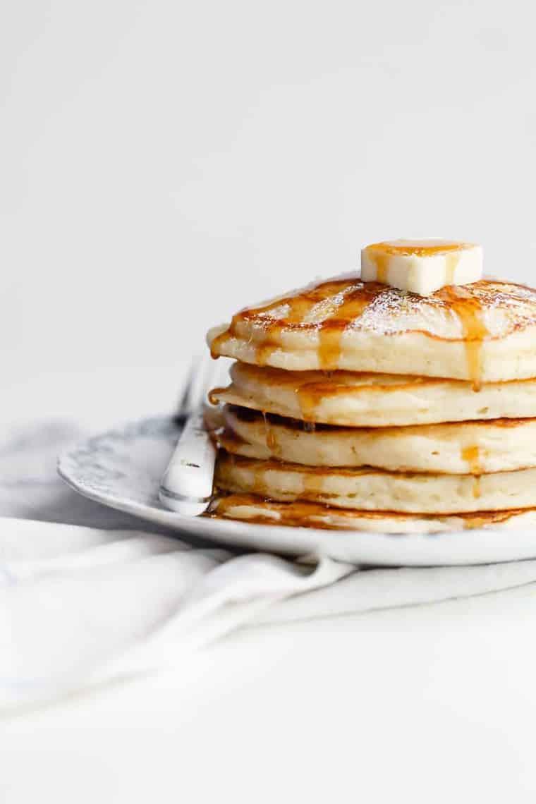 Lemon Ricotta Pancakes Recipe - Grandbaby Cakes