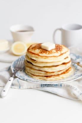 Lemon Ricotta Pancakes Recipe | Best Mother's Day Brunch Recipes| Grandbaby Cakes