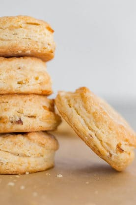 bacon cheddar biscuits 2 277x416 - Bacon Cheddar Biscuits Recipe