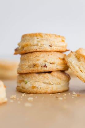 Bacon Cheddar Biscuits Recipe | Grandbaby Cakes