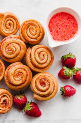 Strawberry Butter Rose Buns | Grandbaby Cakes