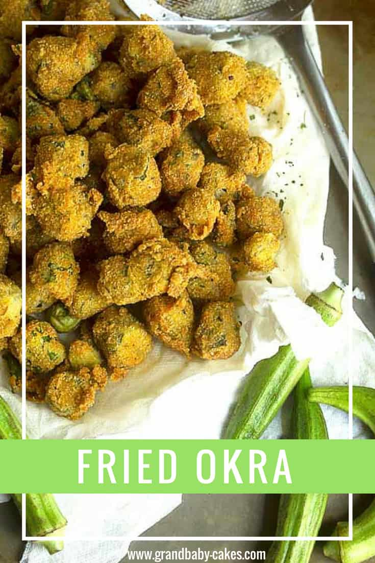A Classic and Southern Fried Okra Recipe -- the flavor is amazing, and the fresh okra comes out with a beautiful golden brown color with a perfectly crunchy texture! This is one of the best okra recipes around!!! #okra #fried #southern