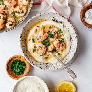 Easy Shrimp Scampi Recipe and Grits