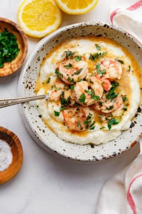 easy shrimp scampi recipe and grits 8 277x416 - Easy Shrimp Scampi Recipe and Grits