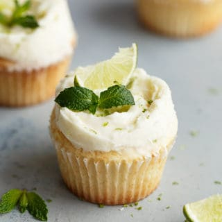 Fluffy Lemon Cupcakes Recipe with Mojito Frosting