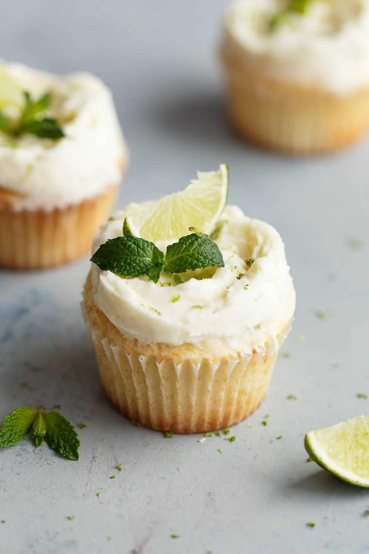 Lemon Cupcakes Recipe With Mojito Frosting Grandbaby Cakes