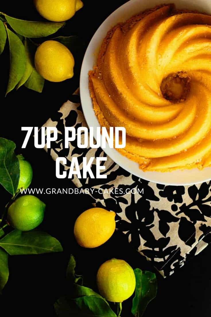 7 Up Cake Recipe (7UP Pound Cake Recipe)  My Mama's recipe from scratch is a decadent and moist cake complemented by the subtle flavor of citrus soda. #cake #baking #dessert #soda