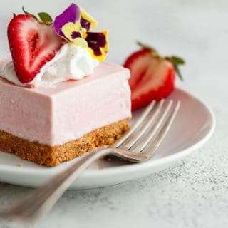 Web strawberry cheesecake bars 13 320x320 - No Bake Strawberry Cheesecake (Easy Cheesecake Recipe)