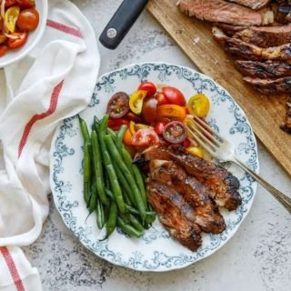 Grilled Ribeye Steak Recipe with Tequila Barbecue Glaze