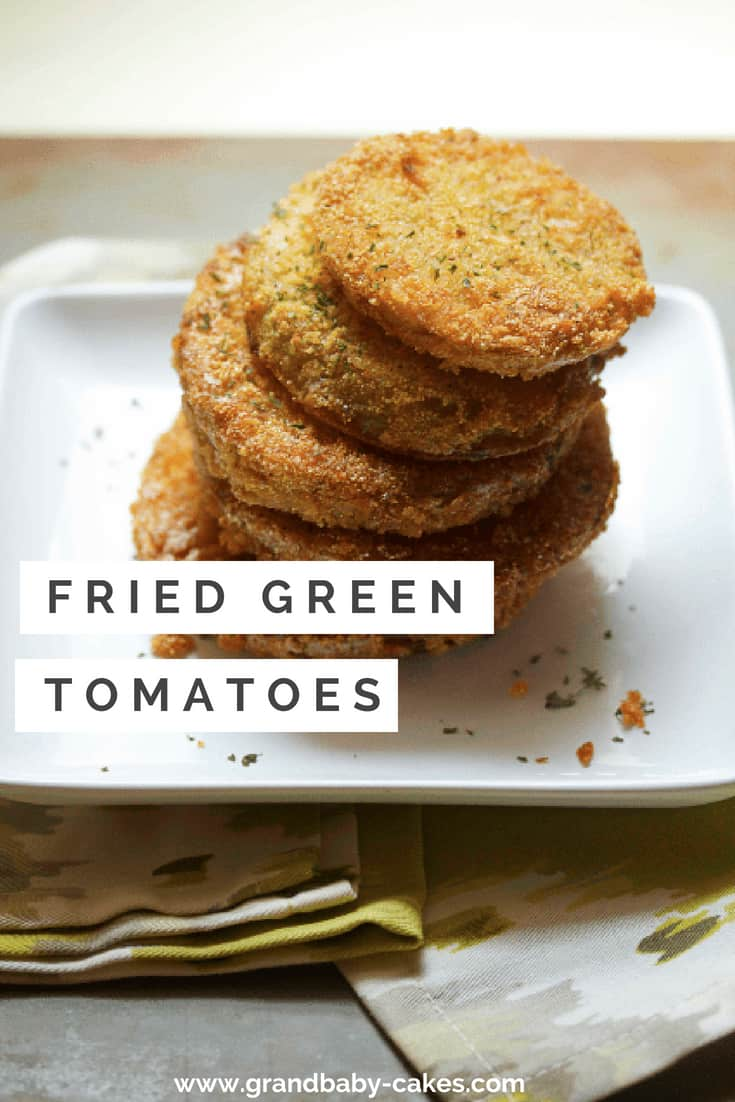 Simple, classic and absolutely delicious. The crunchy golden batter of this fried green tomatoes recipe is the epitome of Southern charm and cuisine. #fried #tomatoes