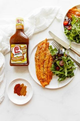 Pineapple Honey Bourbon Grilled Catfish Recipe | Grandbaby Cakes #grilledfish #grill #catfish