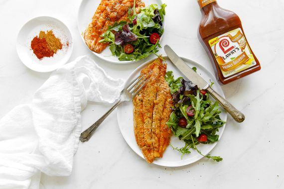 Pineapple Honey Bourbon Grilled Catfish Recipe - A simple yet flavorful summer grilled fish recipe made with just a few ingredients including Lawry's honey bourbon marinade.  It is perfect for work days or weekend entertaining! #grilledfish #grill #catfish