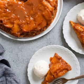Caramel Peach Dump Cake Recipe