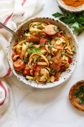 jambalaya pasta recipe web12 277x416 - Cajun Jambalaya Pasta Recipe (With How To Video!)