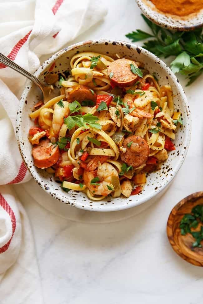 Cajun Jambalaya Pasta Recipe And Video Grandbaby Cakes