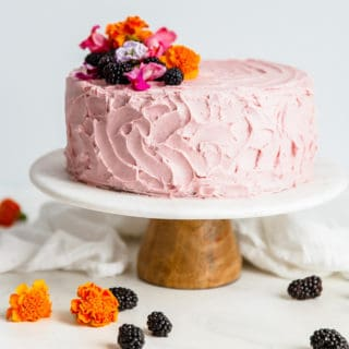 Chocolate Layer Cake Recipe with Blackberry Buttercream | Grandbaby Cakes