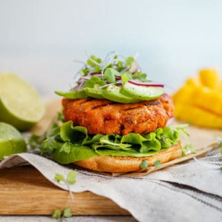 Mango Jerk Salmon Burgers Recipe